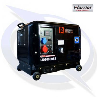 Warrior LDG6000S3 6.5kVA / 6kW 3 Phase Silenced Diesel Generator 2 year warranty