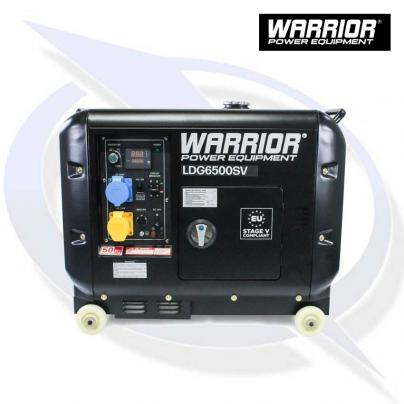 WARRIOR LDG6500SV 6.25KVA / 5.5KW SILENCED DIESEL GENERATOR