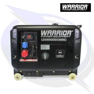 WARRIOR LDG6500SV3WRC 6.25KVA / 5KW 3-PHASE SILENCED DIESEL GENERATOR WITH REMOTE CONTROL