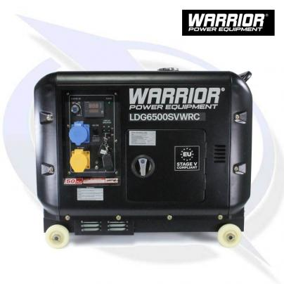 WARRIOR LDG6500SVWRC 6.25KVA / 5.5KW SILENCED DIESEL GENERATOR WITH REMOTE CONTROL
