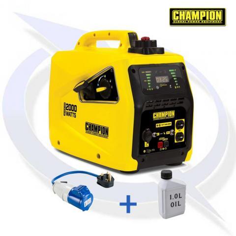 Champion 82001i-E 2000 Watt Inverter Petrol Generator
