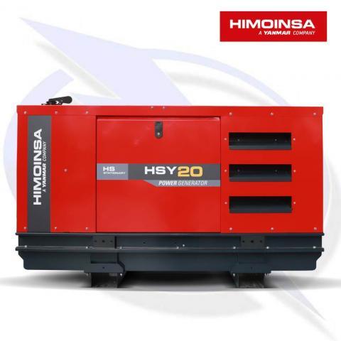 HIMOINSA HSY-20 M5 19KVA/15KW SINGLE PHASE DIESEL CANOPY GENERATOR