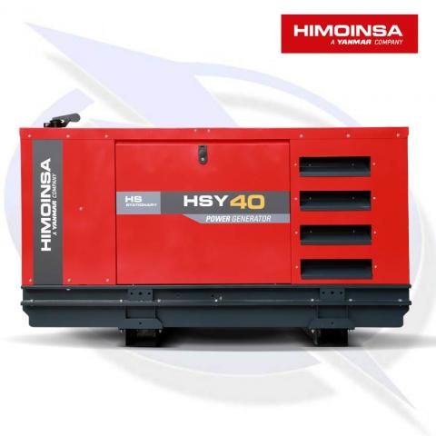 HIMOINSA HSY-40 M5 37KVA/30KW SINGLE PHASE DIESEL CANOPY GENERATOR