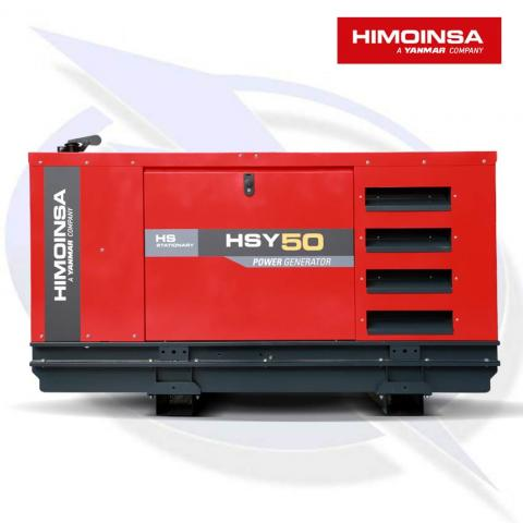 HIMOINSA HSY-50 M5 46KVA/37KW SINGLE PHASE DIESEL CANOPY GENERATOR