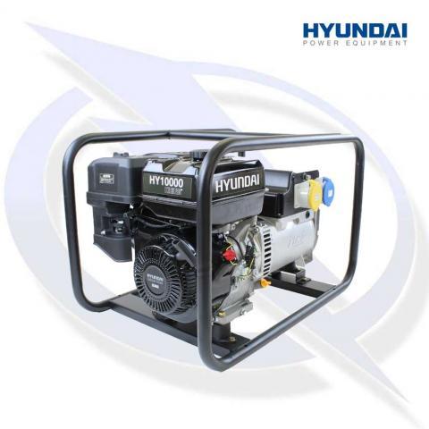 Hyundai HY10000 Hire Pro 8.8kva/7Kw Framed Petrol Generator
