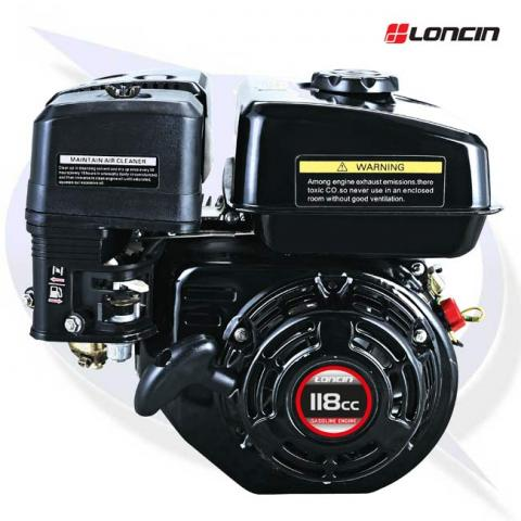 Loncin G120F-M 3.5HP Engine 18mm Shaft - Replaces Honda GX120 - Wacker Plate