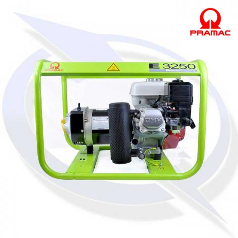 Pramac E3250 2.9kVA/2.6kW DUAL VOLTAGE Petrol Generator