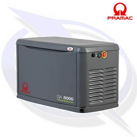 PRAMAC GA8000 8KVA/8KW LPG OR GAS HOME BACKUP GENERATOR