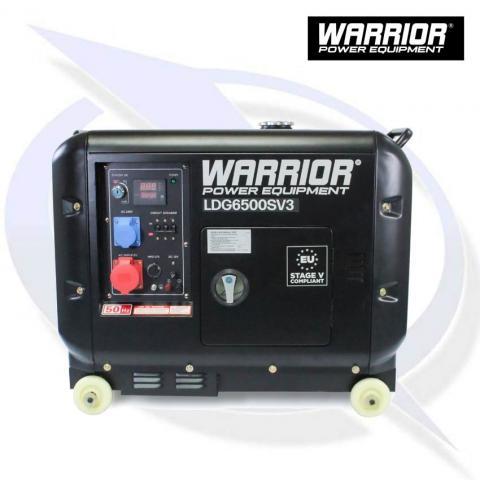Warrior Ldg6500sv3 6 25kva 5 5kw 3 Phase Silenced Diesel Generator Energy Generator Sales