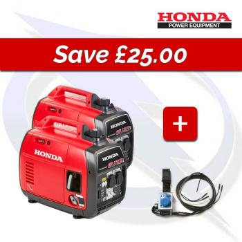 HONDA EU22I X 2 PARALLEL CONNECTION BUNDLE