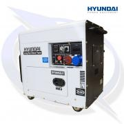HYUNDAI DHY8000SELR 7.5KVA/6KW 3 PHASE CANOPIED DIESEL GENERATOR