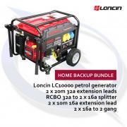 Loncin LC10000D-AS 8kW PETROL Home Backup Generator Bundle