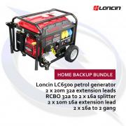 Loncin LC6500d-AS 5.5kW Petrol Generator Home Backup Bundle
