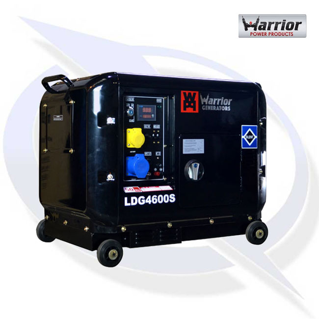 electric generators. Warrior LDG4600S 5.5KVA / 4.6kW Silenced Diesel Generator Electric Generators