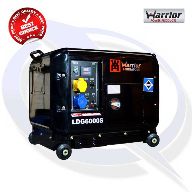 Warrior LDG6000S 6kVA Silenced Diesel Generator | Energy