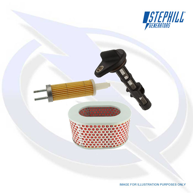 Service Kit (Oil, Fuel, Air filter) for Yanmar L100 Stephill